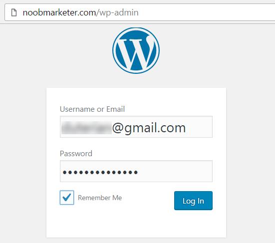 ลงชื่อเข้าใช้ wordpress